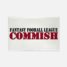 Fantasy Football Commish Rectangle Magnet (100 pac