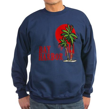 Bay Harbor with Palm Tree Sweatshirt (dark)