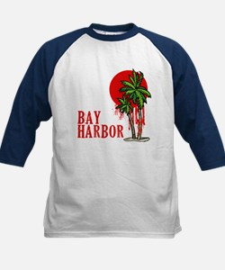 Bay Harbor with Palm Tree Kids Baseball Jersey