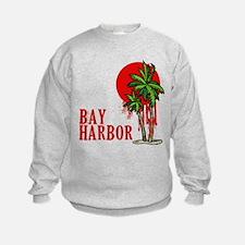 Bay Harbor with Palm Tree Sweatshirt
