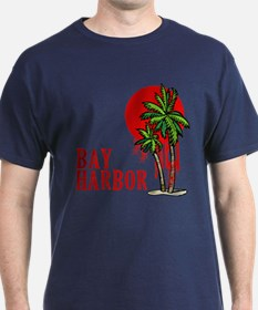 Bay Harbor with Palm Tree T-Shirt