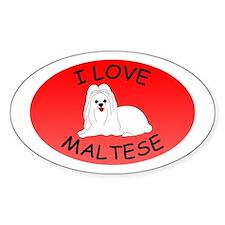 I Love Maltese Decal