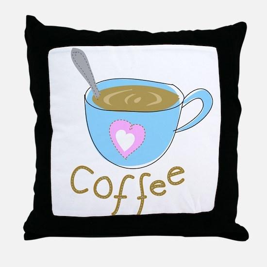 whimsical coffee Throw Pillow