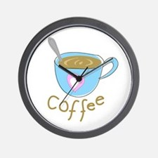 whimsical coffee Wall Clock