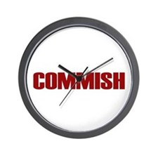 Commish (Red) Wall Clock