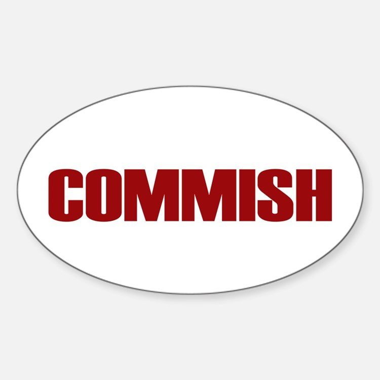 Commish (Red) Oval Decal
