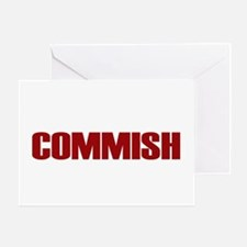 Commish (Red) Greeting Card