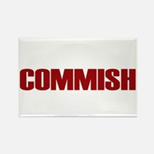 Commish (Red) Rectangle Magnet (10 pack)