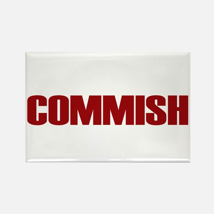 Commish (Red) Rectangle Magnet (100 pack)