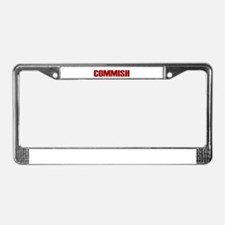 Commish (Red) License Plate Frame