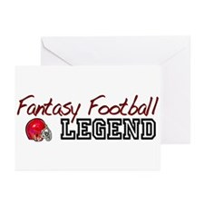 Fantasy Football Legend Greeting Cards (Pk of 10)