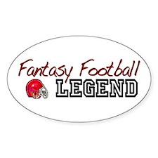 Fantasy Football Legend Oval Decal