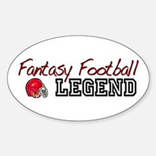 Fantasy Football Legend Oval Decal