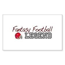 Fantasy Football Legend Rectangle Decal