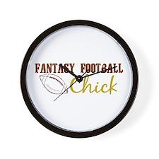 Fantasy Football Chick Wall Clock