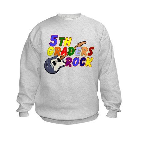 5th Graders Rock Kids Sweatshirt
