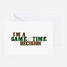 Gametime Decision (Football) Greeting Card