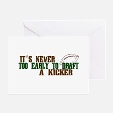 Fantasy Football Draft Kicker Greeting Card