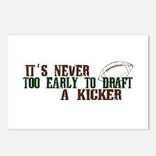 Fantasy Football Draft Kicker Postcards (Package o