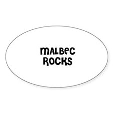 MALBEC ROCKS Oval Decal