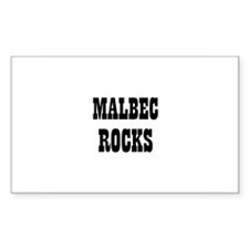 MALBEC ROCKS Rectangle Decal