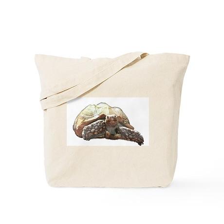 Happy Sulcata Tortoise Tote Bag