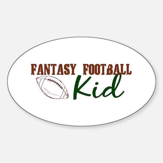 Fantasy Football Kid Oval Decal
