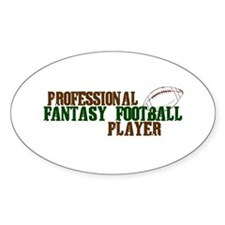 Pro Fantasy Football Player Oval Decal