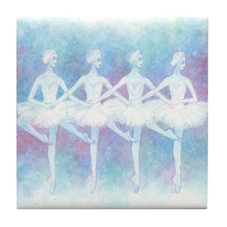 Dance of the Baby Swans Ballet Tile Coaster