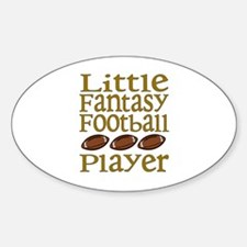 Little Fantasy Football Player Oval Decal