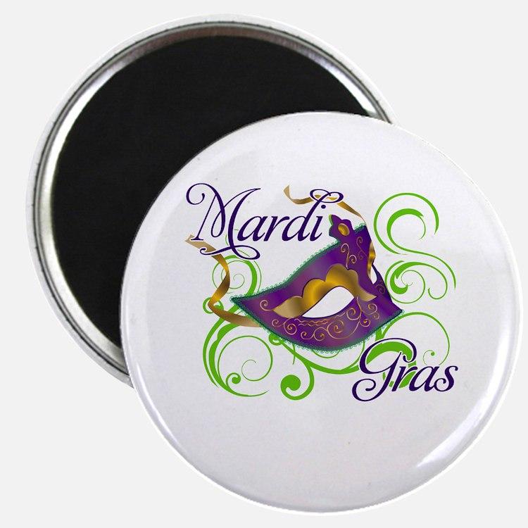 "Mardi Gras Design 5 2.25"" Magnet (100 pack)"