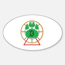 Furry Carny Oval Decal