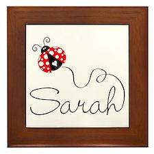 Ladybug Sarah Framed Tile
