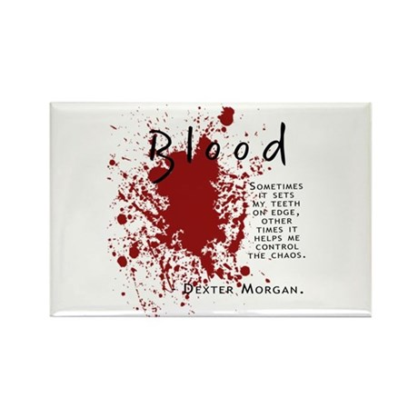 Dexter - Blood Quote Rectangle Magnet (100 pack)
