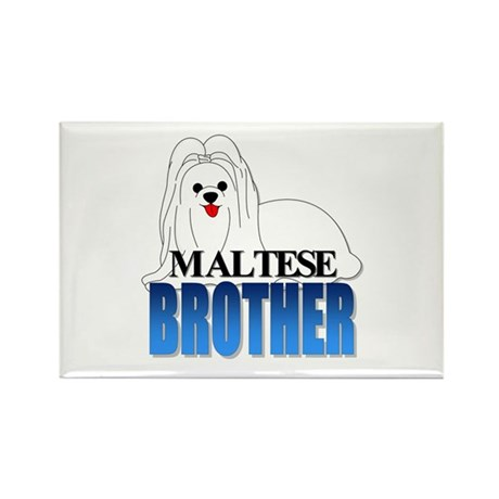 Maltese Brother Rectangle Magnet (100 pack)
