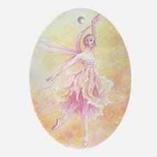 Dragonfly Ballet Oval Ornament
