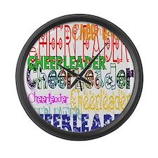 Multi Cheerleader Large Wall Clock