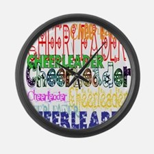 Multi Cheerleader Large Wall Clock