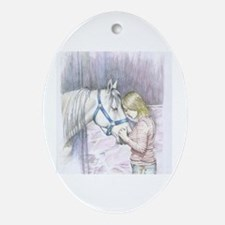 Cute Special horse Oval Ornament