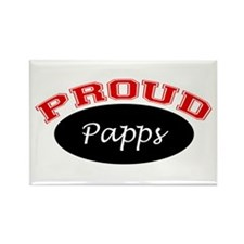 Proud Papps Rectangle Magnet