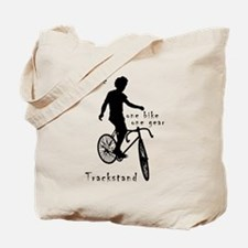 Fixie Trackstand - one bike one gear Tote Bag