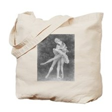 Swan Lake Ballet Tote Bag (Black & White)