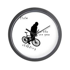 Fixie Skidding Wall Clock