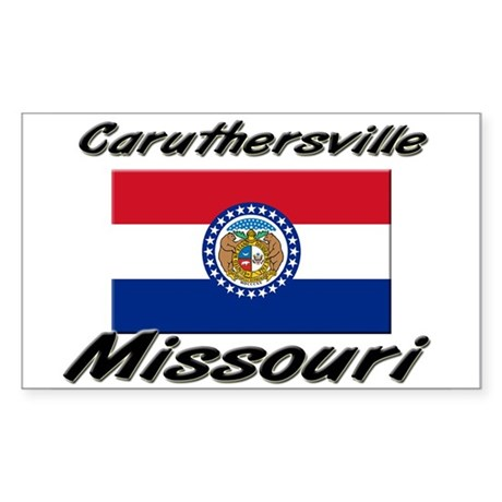 Caruthersville Missouri Rectangle Sticker