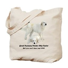 Great Pyrenees Potato Chip Tote Bag