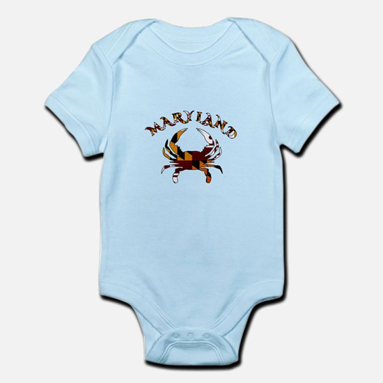 Maryland Flag Crab Body Suit