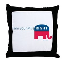 Miss RIGHT Throw Pillow