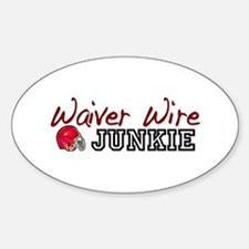 Waiver Wire Junkie Oval Decal