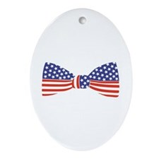 Bow Tie - USA Oval Ornament