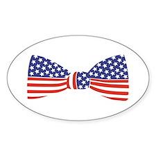 Bow Tie - USA Oval Bumper Stickers